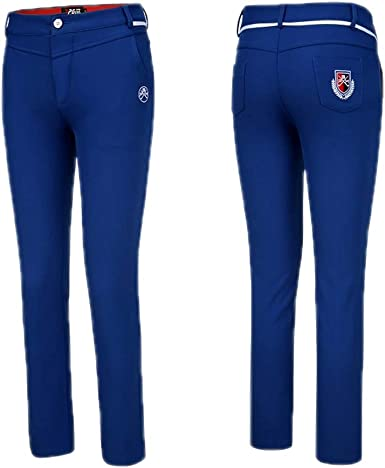 Pgm Pantalon De Golf Slim Fit Para Mujer Proteccion Contra El Frio Calentar Pantalones De Deporte Al Aire Libre Blue Xs Amazon Es Ropa Y Accesorios
