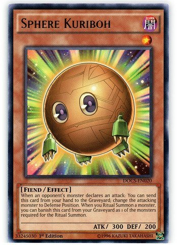 Yugioh X3 (cards) Sphere Kuriboh (DOCS-EN020) - Dimension of Chaos - 1st Edition - - Edition En020 1st