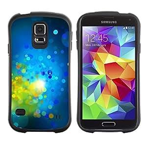 """Pulsar iFace Series Tpu silicona Carcasa Funda Case para Samsung Galaxy S5 , Verde brillante Dots Spots Resumen"""""""