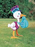 """Amscan Cute Stork """"It's A Girl"""" Corrugated Yard Sign Party Sign, 14"""" x 15"""", White/Purple/Orange/Blue"""