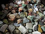 Fantasia Materials: 2 Pounds of The Original 12 Stone Mix from Madagascar - Rough Gemstones Labradorite, Rose Quartz, Green Opal, Amethyst, Petrified Wood & More!