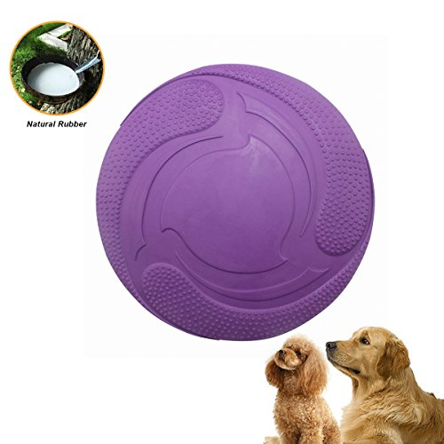 Bojafa Durable Rubber Dog Flying Discs Frisbee for Outdoor Interactive Fun,Foldable Dog Fetch Toy for both Land and Water