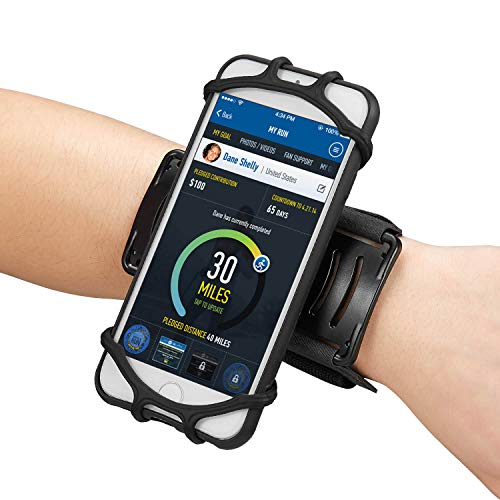 Newppon 180° Rotatable Running Cellphone Wristband :for iPhone Xs Max Xr X 6s 7 8 Plus Samsung Galaxy S9+ S8 S7 Google Pixel LG HTC Workout Armband for Jogging Cycling ()