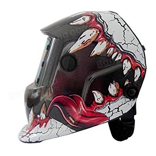Electrical Welding Tools Helmet Mask & Goggles - Fangs Style Solar Welder Mask Auto Darkening Welding Helmet Mig Grinding by Unknown (Image #2)