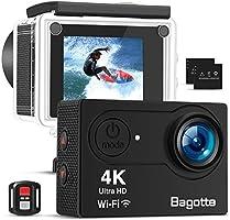 Bagotte 4K Action Cam Wi-Fi 16MP Impermeabile 30M