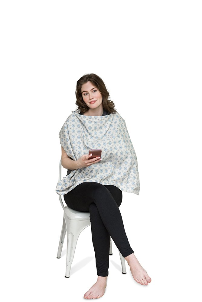 Belly Armor Nursing Cover With Anti-Radiation Shielding Fabric (Aster) | EMF Protection by Belly Armor (Image #3)
