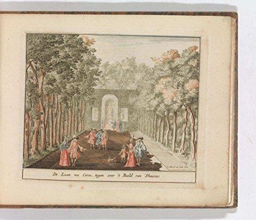 Fine Art Print | Carel Allard | 'De Laan na Ceres, tegen Over 't Beeld Van Phaunus'', in: Tooneel Der Voornaamste Nederlands Huizen, En Lust Hoven, Naar T Leven Afgebeeld | Poster Reprint 14in x 11in