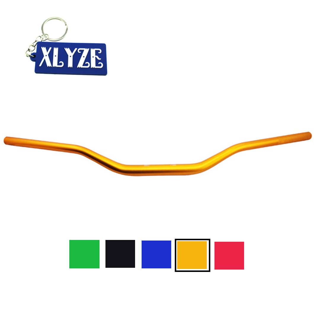 XLYZE Guidon de moto 1 1/8' 28  mm en alliage pour Pit Dirt Bike Mini Motocross Motard ATV Quad  Noir
