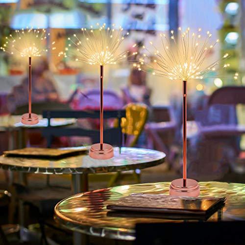 Flurries  40LED Firework Lights - Starburst Lights - Dandelion Lights - Bouquet Shape Lights - Battery Powered - for Home Party Wedding Decoration (Rose Gold)