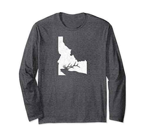 Unisex Idaho Elk Hunting Long Sleeve Shirt 2XL Dark (Idaho Long Sleeve)