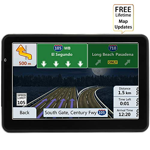 LONGRUF Car GPS Navigation 7-inch Touch Screen Built-in 8BG and 128MB GPS Navigation System Map Free Lifetime Update