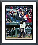 "Joe Mauer Minnesota Twins 2018 MLB Final Game Photo (Size: 12.5"" x 15.5"") Framed"