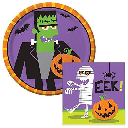 Kit Frankenstein (Frankenstein Eek! Dessert Napkins & Plates Party Kit for)