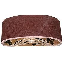 POWERTEC 110470 3-Inch x 21-Inch 60 Grit Aluminum Oxide Sanding Belt, 10-Pack,