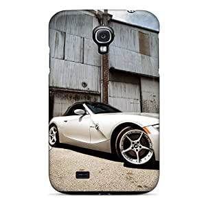 Anti-scratch And Shatterproof White Bmw Z4 Roadster Front Angle Phone Cases For Galaxy S4/ High Quality Tpu Cases Black Friday