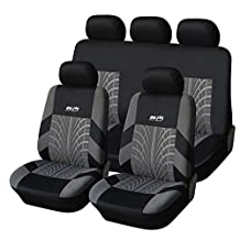 CL1004C9G51 Carline Tire Track Fabric 9pcs Full Car Seat Covers Compatible to Jeep Grand Cherokee Cherokee Renegade Wrangler Unlimited Wrangler Compass Patriot 2017-2007