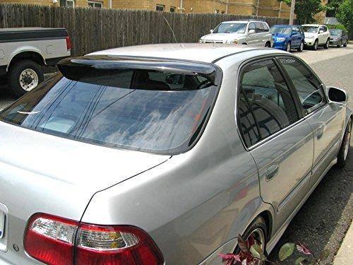 Racingbees Honda Civic 4 door Sedan Rear Roof Window Visor 1996 1997 1998 1999 2000 Generic