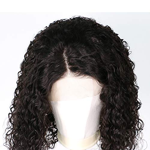 Short Curly Wig Human Hair Brazilian Lace Front Human Hair Wigs With Baby Hair Pre Plucked Bleached Knots (12inch) by RULINDA (Image #3)