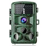 """TOGUARD Trail Camera 14MP 1080P Game Cameras with Night Vision Motion Activated Waterproof Wildlife Hunting Cam 120° Detection with 0.3s Trigger Speed 2.4"""" LCD IR LEDs"""