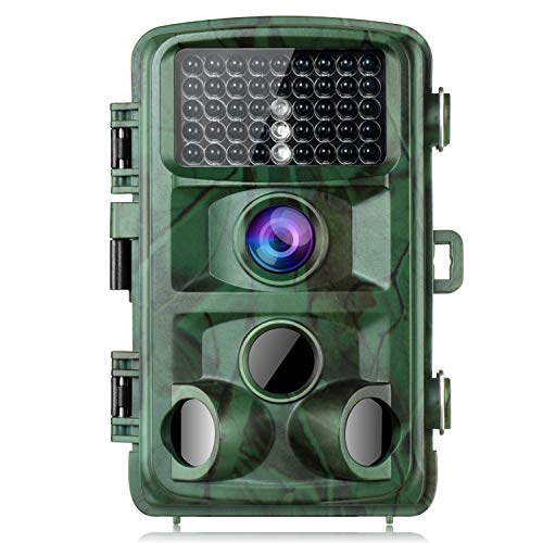 TOGUARD Trail Camera 14MP 1080P Game Camera with Night Vision Motion Activated Waterproof Wildlife Hunting Cam 120° Detection with 0.3s Trigger Speed 2.4