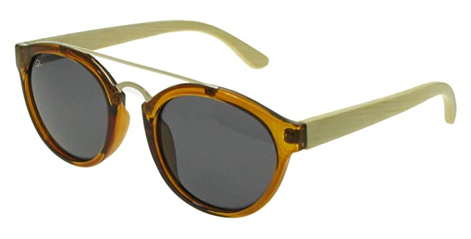 e66c790122 Goodlookers Polarised Bamboo Sunglasses  Tokyo  Brown Bamboo  Amazon.co.uk   Clothing