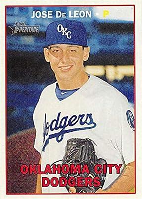 Jose Deleon Baseball Card Oklahoma City Los Angeles