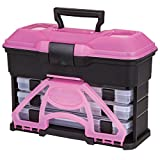 Flambeau 6304TJ T3 Frost Series Mini Front Loader Tackle Box, Frost Pink