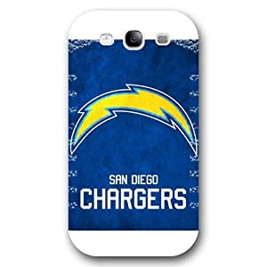 Customized NFL Series For CaseSamsung Galaxy S3, NFL Team San Diego Chargers Logo Samsung Galaxy S3 Case, Only Fit for Samsung Galaxy S3 (White Frosted Shell)