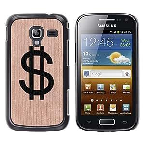 // MECELL CITY PRESENT // Cool Funda Cubierta Madera de cereza Duro PC Teléfono Estuche / Hard Case for Samsung Galaxy Ace 2 /// Dollar Money Cash Rich Sign ///
