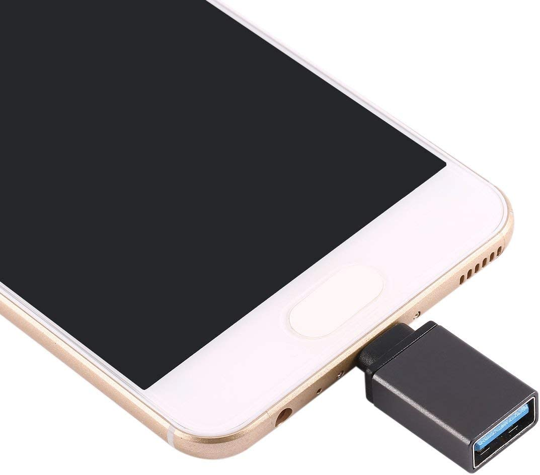 Negro ESjasnyfall USB port/átil 3.1 Tipo-C Macho a USB 3.0 A Hembra Convertidor Adaptador de Cable USB Carcasa de aleaci/ón de Aluminio Duradera Ultra Ligera