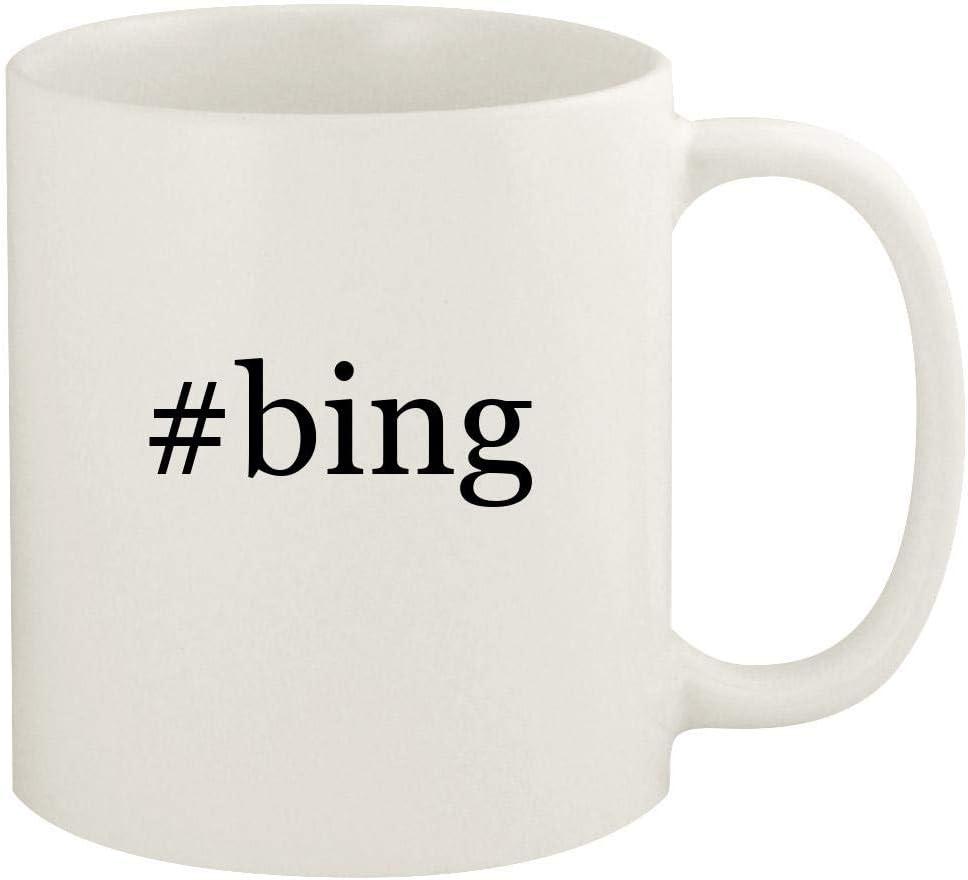 #bing - 11oz Hashtag Ceramic White Coffee Mug Cup, White