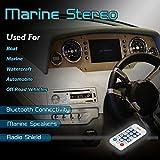 Marine Stereo Receiver Speaker Kit - in-Dash LCD