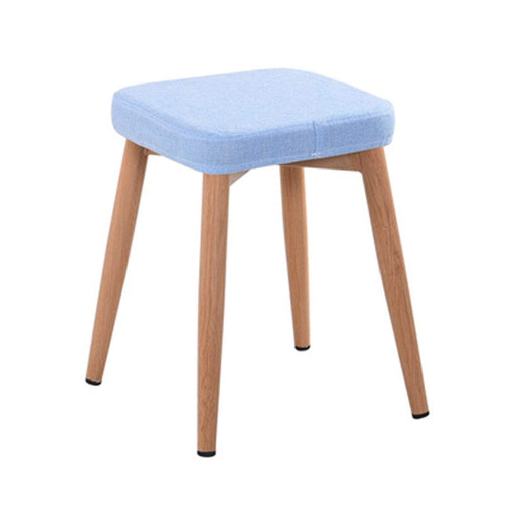 Cigkany-HO Stool Modern Style Square Stool for Bedroom Livingroom Fabric Stool Iron Art Makeup Stool Small Stool for Kids Decoration Vanity Stool (Color : C, Size : Free Size) by Cigkany-HO