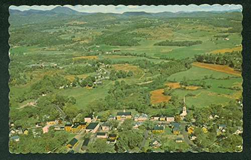 Stowe Vermont Mt Mansfield Foothills Aerial View Postcard