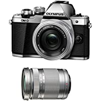Olympus OM-D E-M10 Mark II Mirrorless Micro Four Thirds Digital Camera with 14-42mm EZ Lens [Silver] & Olympus M.Zuiko Digital ED 40-150mm f/4.0-5.6 R Lens [Silver]