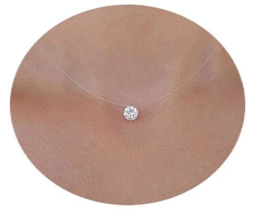 collier ras de cou fil nylon diamant