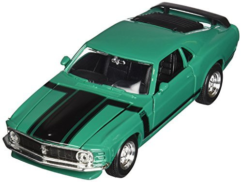 Maisto 1970 Ford Mustang Boss 302 Hard Top 1/24 Scale Diecast Model Car Green by Maisto -  9128252