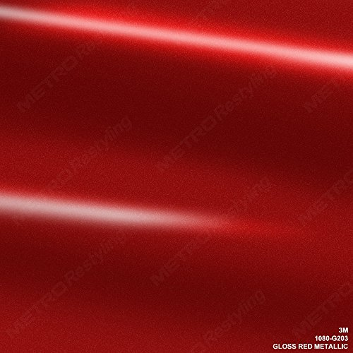 3M 1080 G203 GLOSS RED METALLIC 3in x 5in (SAMPLE SIZE) Car Wrap Vinyl Film by 3M (Image #6)