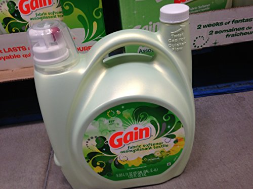Gain Original scent Fabric Softener 197 loads / 170 fl oz (pack of 6) by GAIN