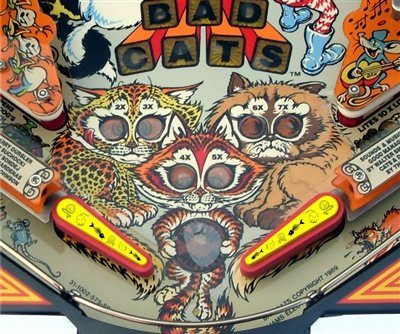 ''Cat Nip'' Pinball Flipper Bat Topper MOD for Bad Cats (Yellow & Black) by ULEKStore