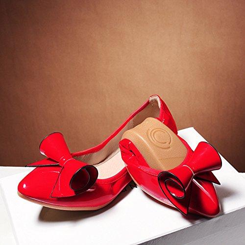 GAOLIM omelettes Femme Chaussures Fond plat à pointe unique Chaussures doux Fond plat confortable Chaussures Volume de femme enceinte Chaussures Femme Chaussures 1901, Noir, 43