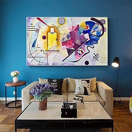 Abstracto Rojo Amarillo Azul Arte Lienzo Pintura Pared Imagen Carteles Impresiones decoración del hogar sin Marco 70x110 cm