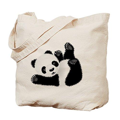 CafePress–Cucciolo di Panda, Borsa di tela naturale, panno borsa per la spesa