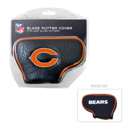 Team Golf NFL Chicago Bears Golf Club Blade Putter Headcover, Fits Most Blade Putters, Scotty Cameron, Taylormade, Odyssey, Titleist, Ping, Callaway