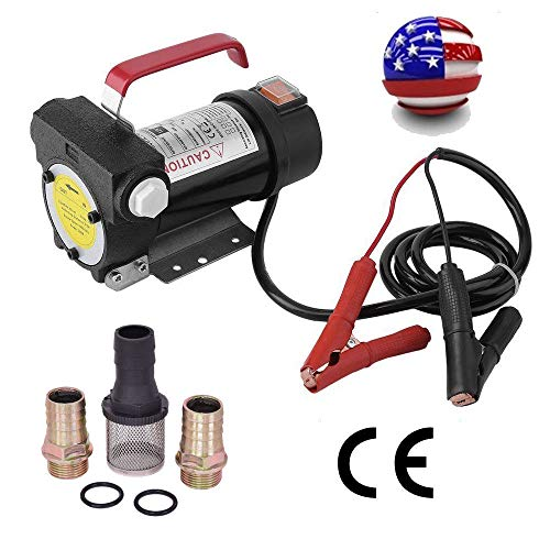 Manoch Portable 12V DC Electric Fuel Transfer Pump Diesel Kerosene Oil Commercial Auto Pump Body Material: Seamless Steel Tube Motor: Single-Phase DC Motor Dimensions: (7.87 x 7.09 x 6.30)