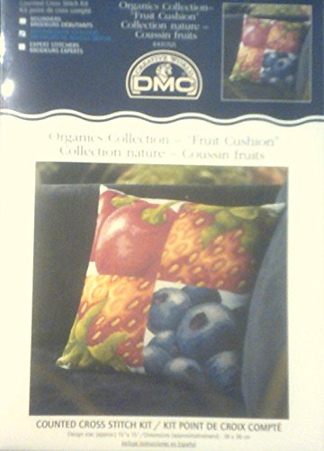 DMC Organics Collection: Counted Cross Stitch Fruit Cushion Kit