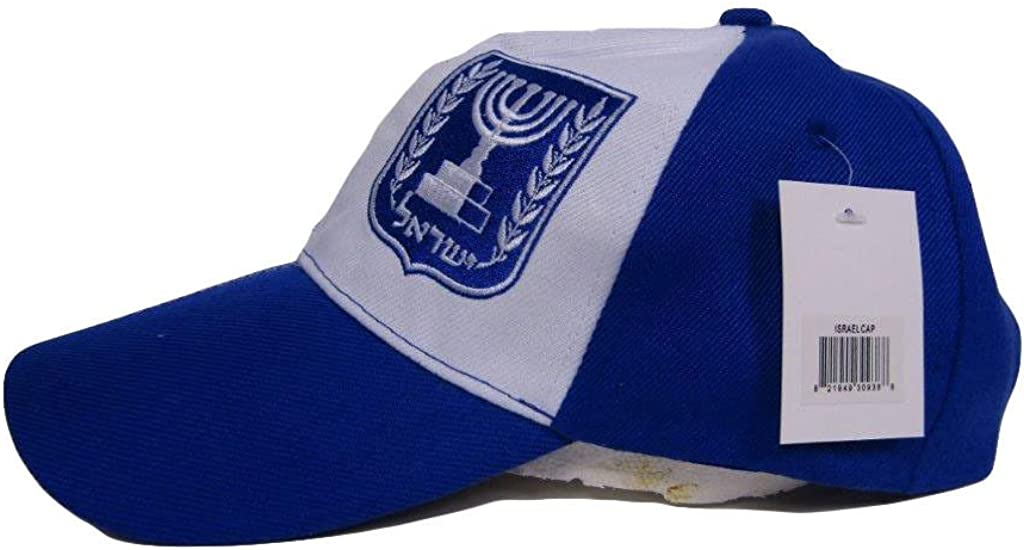 RUF Israel Candelabra Country Blue and White Baseball Hat Cap 3D Embroidered