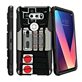 MINITURTLE Case Compatible w/ LG V30 | V30 Plus Rugged Cover, BeltClip Case for LG V30 | V30 Plus 2017 Hard Shell LG V30 Case Cover w/ Holster + Stand Game Controller Retro Review