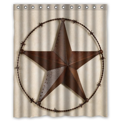 Texas A&m Curtain Rod (Leiacikl22 66(W)x72(H)-Inch Waterproof Bathroom Western Texas Star Shower Curtain)