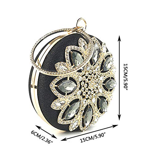 Champagne Champagne Shoulder Wedding Evening Padory Bridal Women Popular Clutch Envelope Round Clutch Bag Prom Rhinestone Party Handbag wZwaxIC